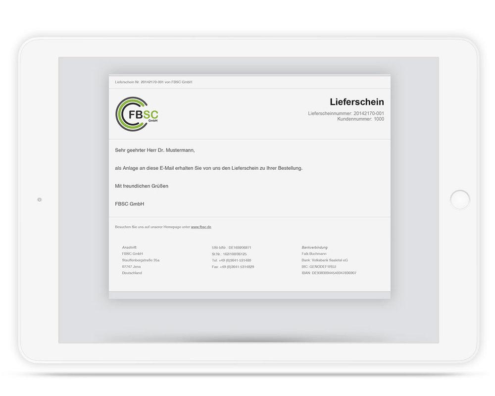 E Mailtext Slim Für Jtl Druckvorlage Lieferschein 1750