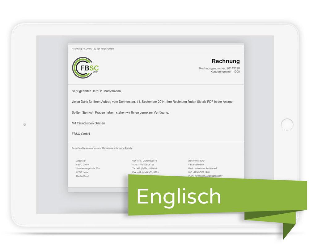 E Mailtext Slim Für Jtl Druckvorlage Rechnung Englisch 1750