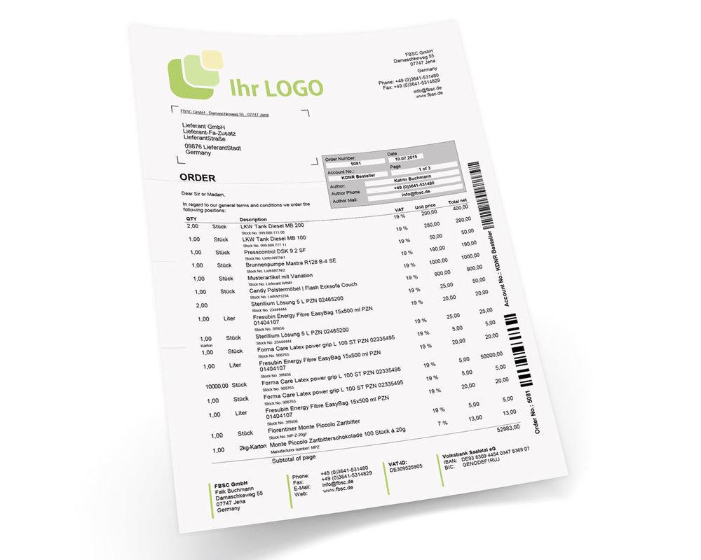 Lieferantenbestellung Für Jtl Wawi Design Premium Englisch 4090
